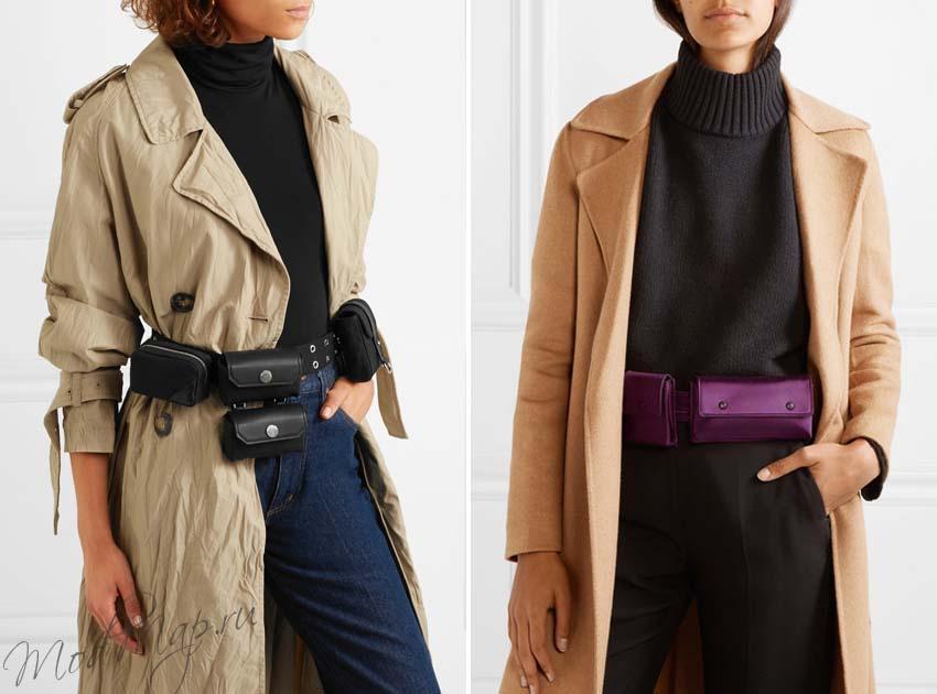 модная поясная сумка женская
